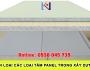 Phân loại các loại tấm panel trong xâydựng